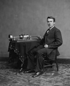 thomas edison inventeur du phonographe