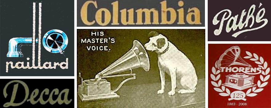 quelques logo de marques de gramophones historiques